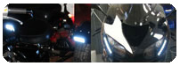 High powered, flexible, daylight running lights for your motorcycle (DRL)