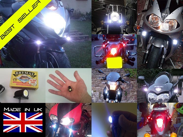 BikeVis Bullets v2 - Motorcycle LED Running Lights